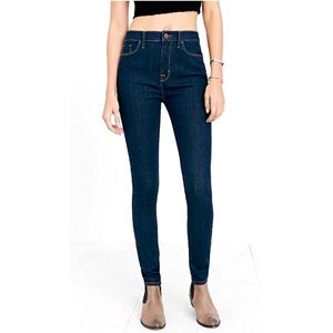 UO High Rise Cigarette Ankle Jeans Dark Wash BDG